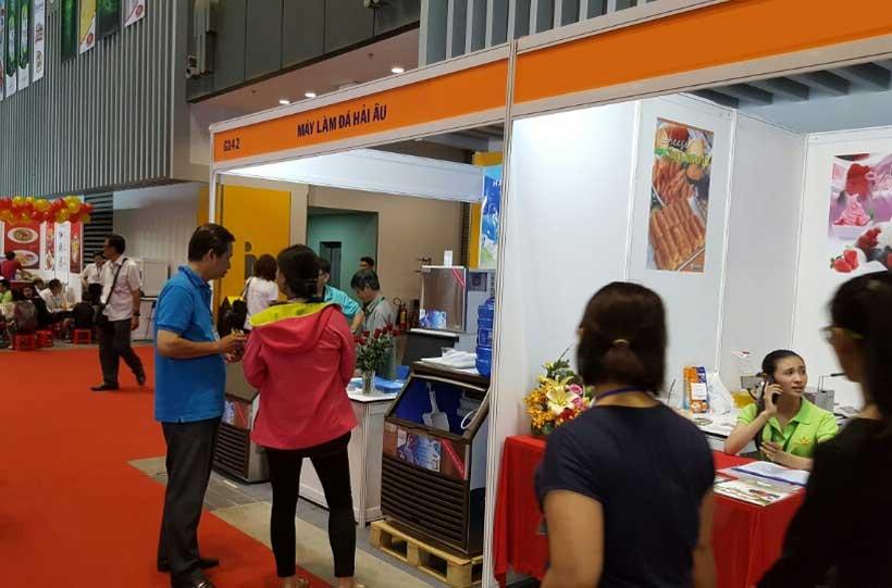 máy làm đá hải âu tham gia triển lãm thực phẩm đồ uống